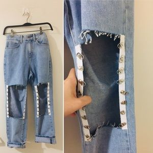 New! LF\Carmar jeans w/huge openings 👌